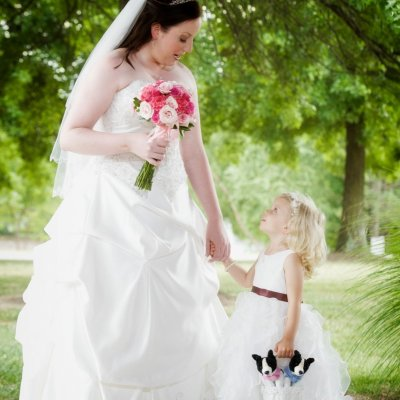 Bride and Flower Girl Photos