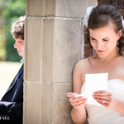 Wedding Photography Reading Letters