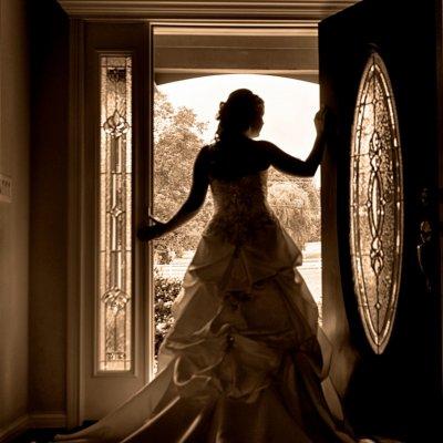Bride in Doorway Photo