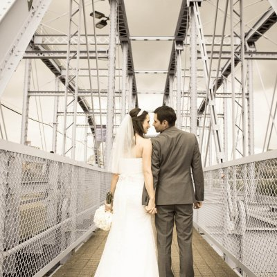 Wedding Photography on Purple People Bridge