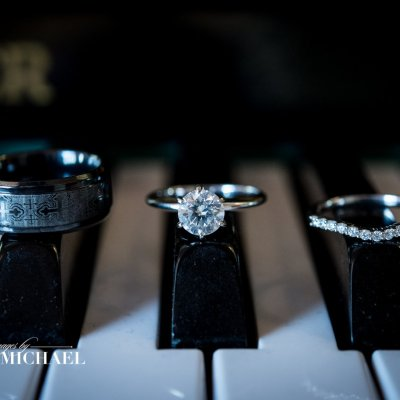 Wedding Rings on Piano Keys Photos