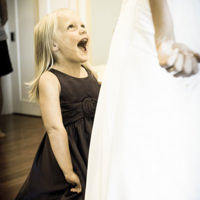 Flower Girl and Bride Photos