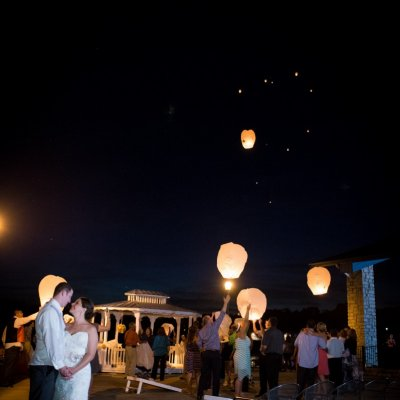 Wedding Photos of Chinese Lanterns