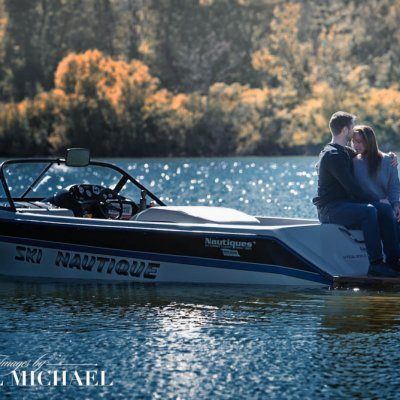 Engagement Photography on Boat