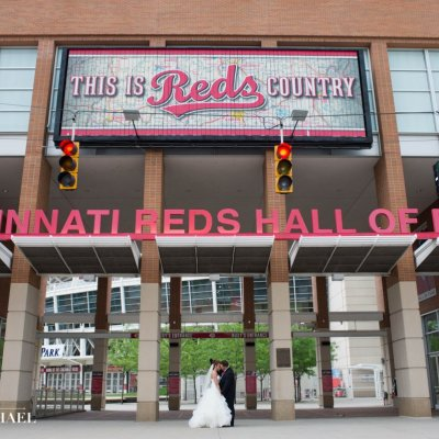 Wedding Photography Cincinnati Reds at The Banks