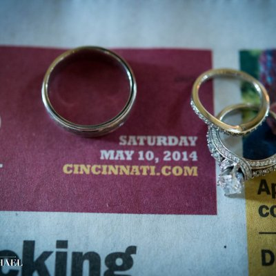 Wedding Rings and Newspaper