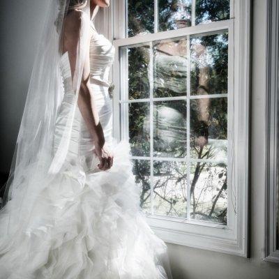 Bride in Window Photographers