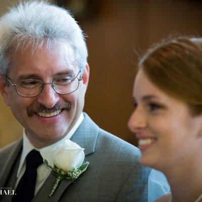 Wedding Photos of Dad and Bride