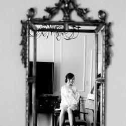 Bride In Mirror Photography
