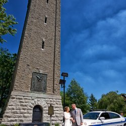 Police Car Wedding Photography