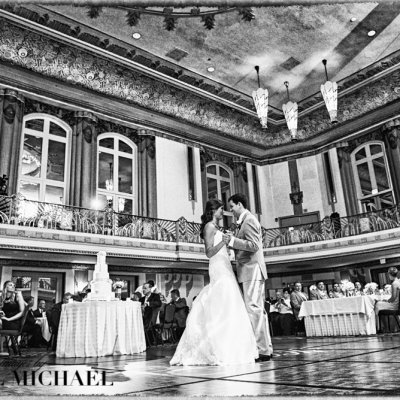 Wedding Photographers Hilton Hall of Mirrors