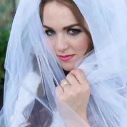 Bridal Portrait With Veil