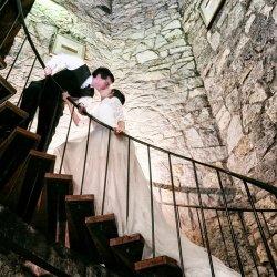 Wedding Photo on Stairs
