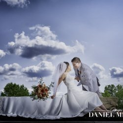 Dramatic Sky Wedding Photo