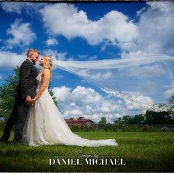 Wedding Veil Blowing Photo