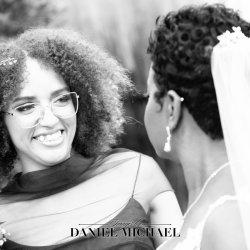 Candid Bridesmaid Wedding Photo