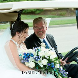 Bride and Dad it gold Cart