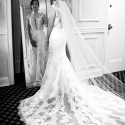 Bride in Mirror Wedding Photo