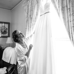Bride with Dress Photo