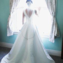 Wedding Photo in Window