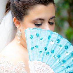 Wedding Photo with Fan