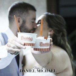 Freddy's Ice Cream Wedding Photo