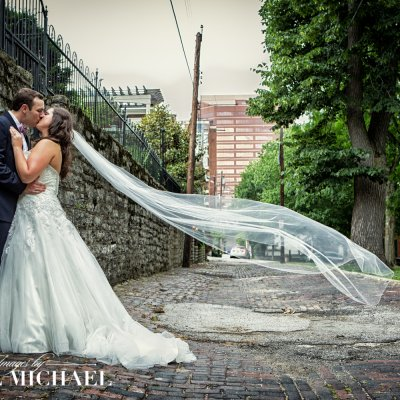 Long Veil In Wedding Photography
