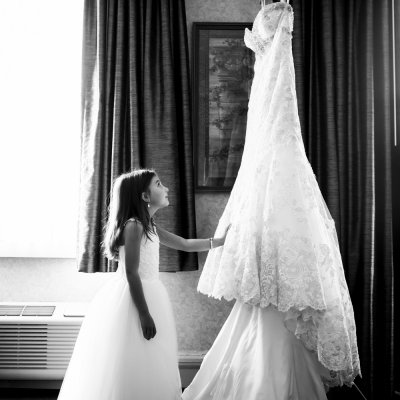 Flower Girl and Brides Dress