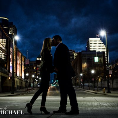 Wedding Photography Cincinnati at Night
