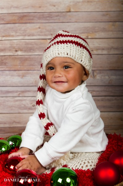 Christmas Portraits, Holiday Photography, Baby Pictures