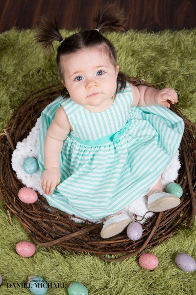Infant Easter Portraits, Easter Photos, Cincinnati Photographers