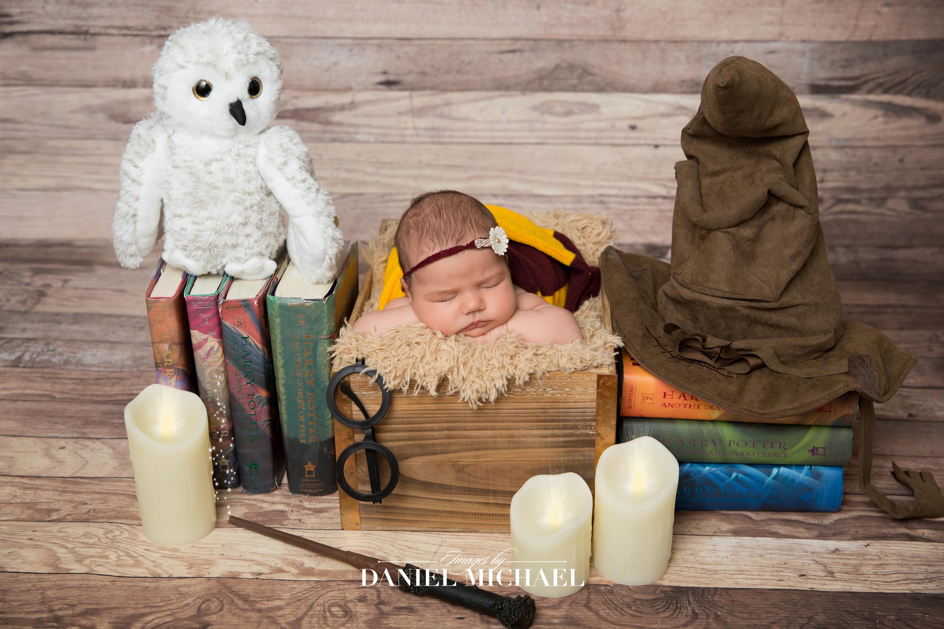 Cincinnati newborn photography harry potter newborn photos cincinnati harry potter cincinnati photography