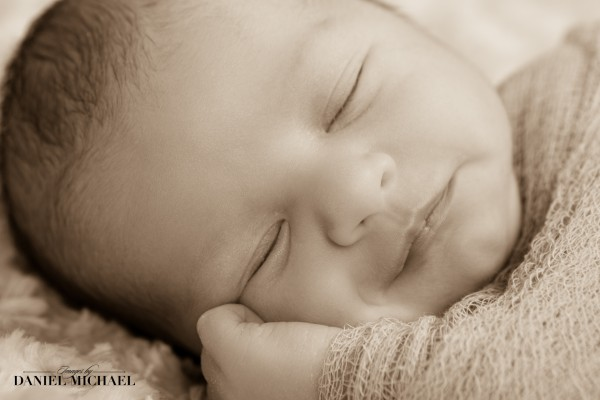 Newborn Photography Cincinnati, Baby Portraits, Sepia