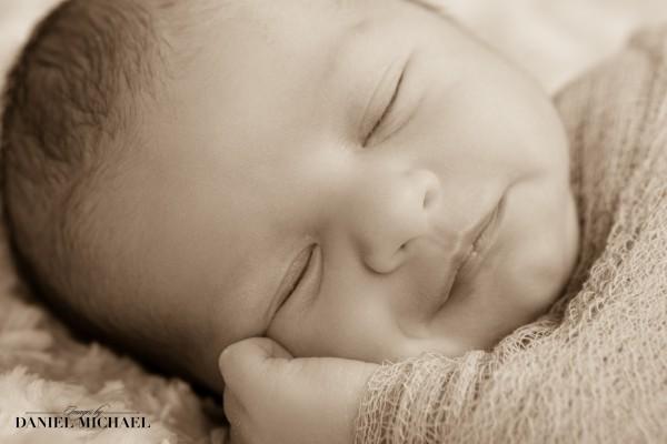 Newborn Photography Cincinnati, Baby Portraits, Sepia