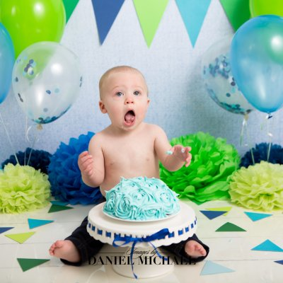 Cincinnati Studio Photography, Cake Smash Photos, First Birthday, Jessica Rist