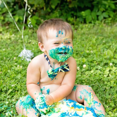Outdoor Cake Smash, Cincinnati Photography, First Birthday Portraits, Jessica Rist