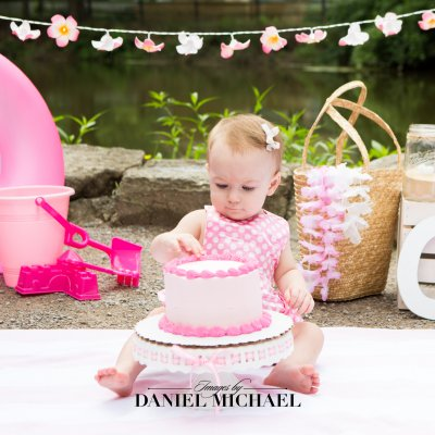 Outdoor Cake Smash, Beach Theme First Birthday, Cincinnati Photography, Jessica Rist