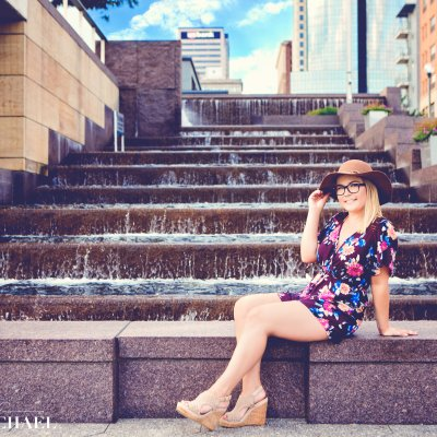 Downtown Cincinnati Senior Photography