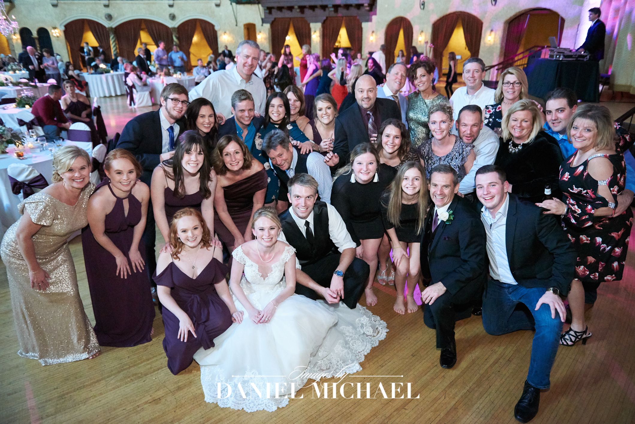 Indiana Rooftop Ballroom Venue Indianapolis Wedding Photographer Reception