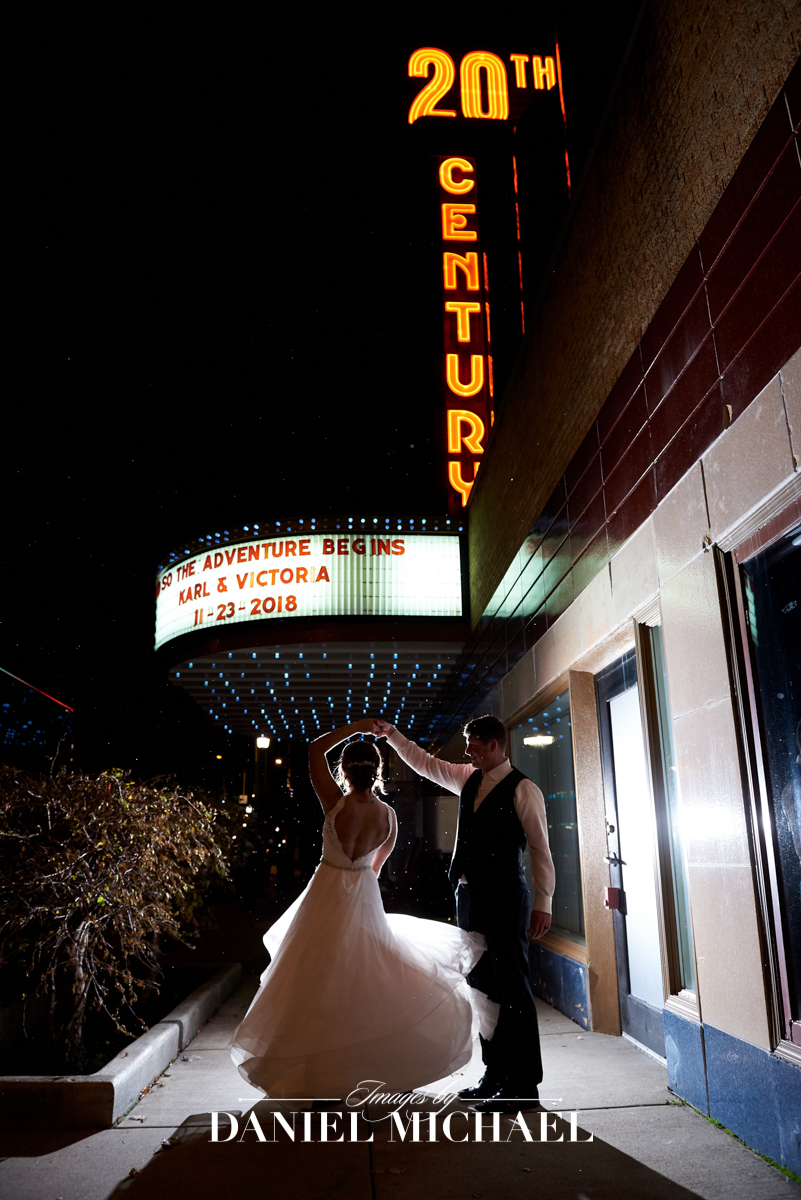 20th Century Theater Wedding Reception Photographer