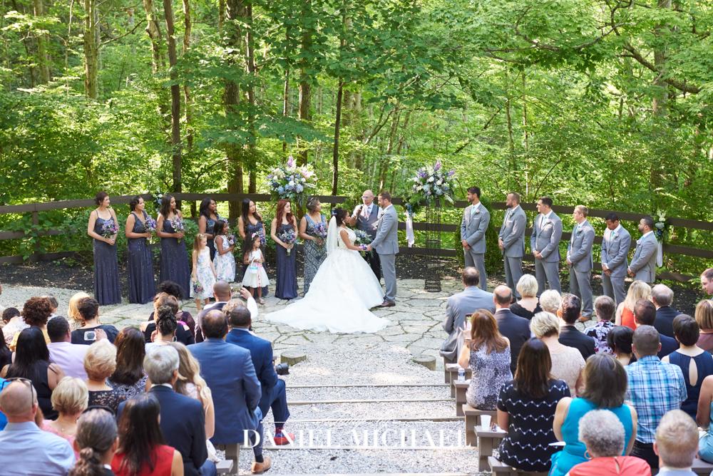 Timeless Charm Wedding Ceremony woods
