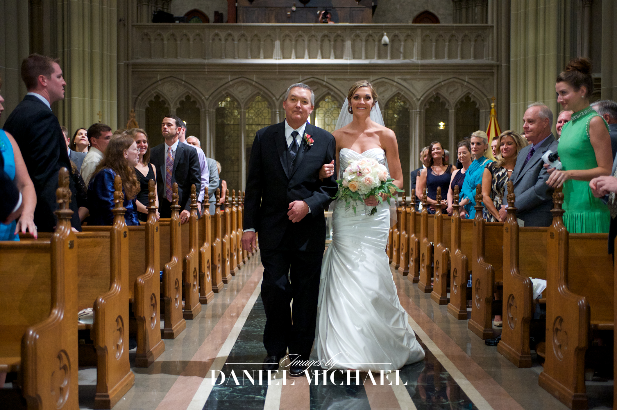 Cathedral Basilica Wedding Ceremony Photographer