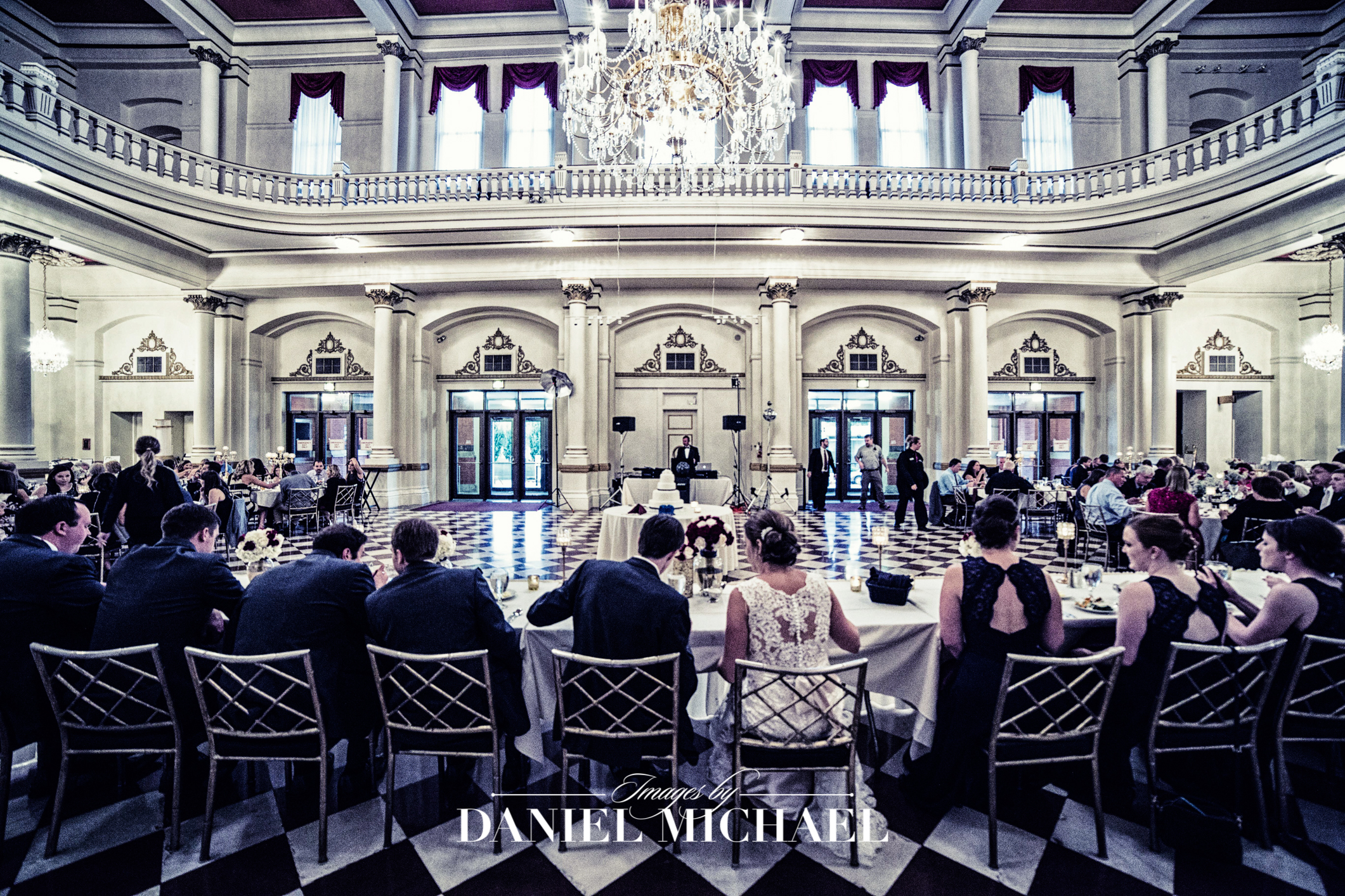 Music Hall Wedding Reception Venue Photography