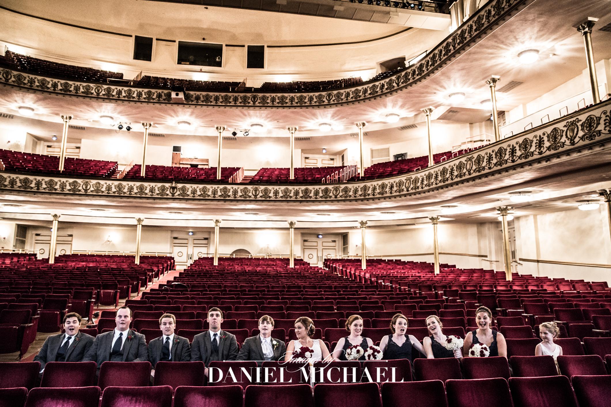 Music Hall Receptiopn Wedding Downtown Venue Photographer