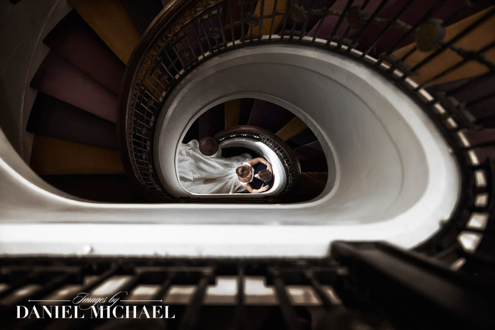 Staircase Wedding Photography
