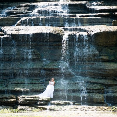 Trash the Dress Waterfall Photography