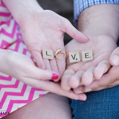 Engagement Photos Scrabble Love