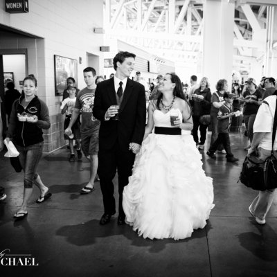 Baseball Game Wedding Photography