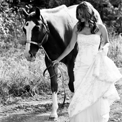 Session B Bridal Portraits with Horse