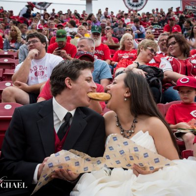 Trash the Dress at Ballpark